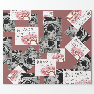 Japanese motif wrapping paper