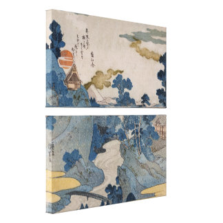 Japanese Mountain Village Canvas Print