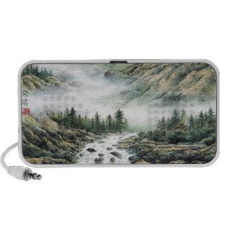 Japanese Mountain Watercolor Notebook Speakers