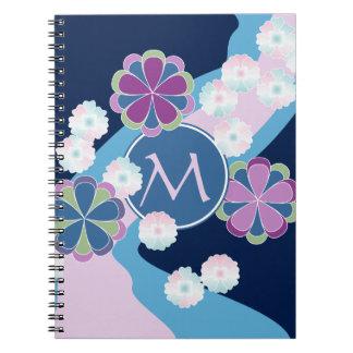 Japanese Nagarekiku Chrysanthemum River Floral Notebook
