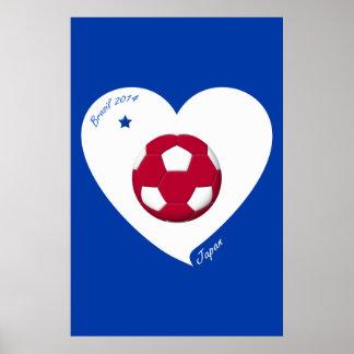 Japanese National Soccer Japan Team 2014 Nippon Poster