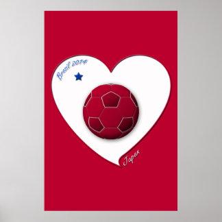 Japanese National Soccer Team, Japan 2014 Print