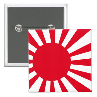 Japanese Navy Flag T-shirts and Apparel 15 Cm Square Badge