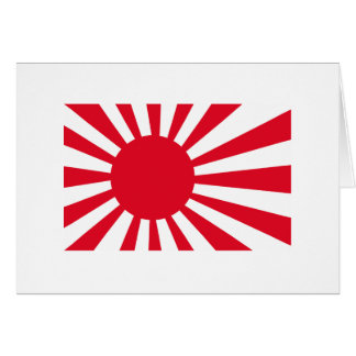 Japanese Navy Flag T-shirts and Apparel Greeting Card