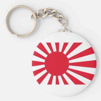 Japanese Navy Flag T-shirts and Apparel Basic Round Button Key Ring