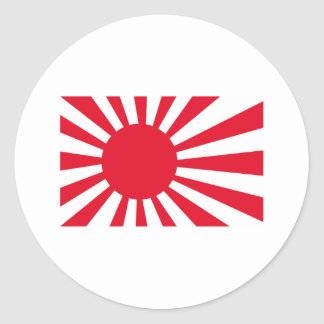 Japanese Navy Flag T-shirts and Apparel Round Sticker