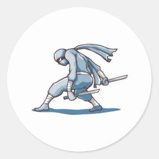 Japanese Ninja Classic Round Sticker