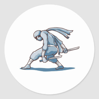 Japanese Ninja Round Sticker