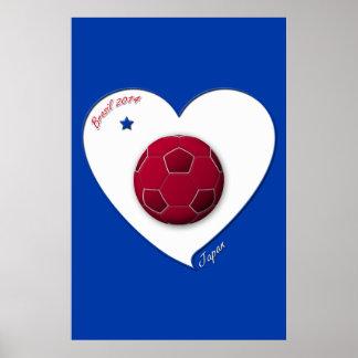 Japanese Nippon National Soccer Team Japan 2014 Poster