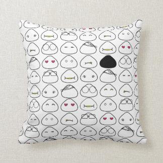 Japanese Onigiri Fluo Pattern Throw Cushions