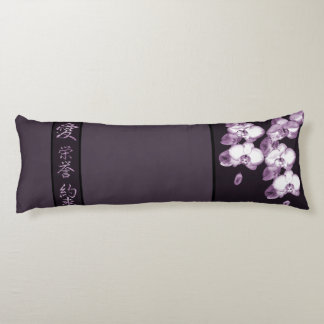 Japanese Orchids Body Cushion