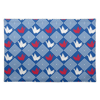 Japanese Origami Cranes Pattern (Orizuru) Placemat
