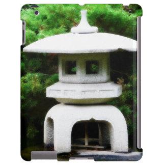 Japanese Pagoda Concrete Garden Lantern iPad Case