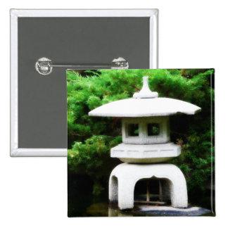 Japanese Pagoda Lantern Style Garden Statue 15 Cm Square Badge