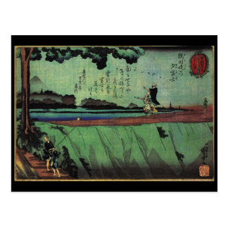 Japanese Painting c 1800 s Postcard