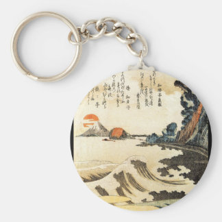 Japanese Painting c. 1800's Key Ring