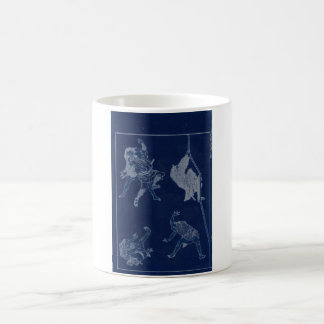Japanese Painting of woman and Mt. Fuji c. 1800's Coffee Mugs