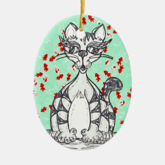 Japanese Paper Cat 1 Ornament