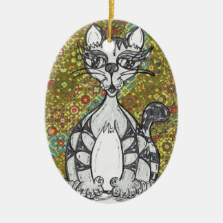 Japanese Paper Cat 2 Ornament