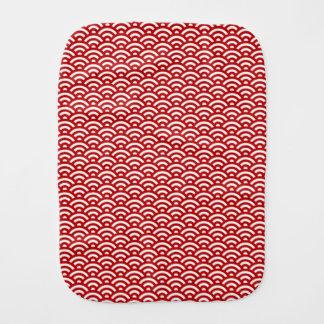 Japanese pattern burp cloth