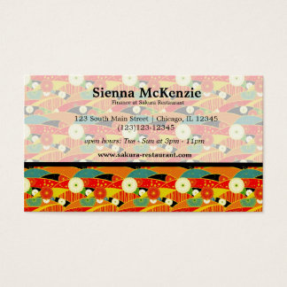 Japanese pattern business card