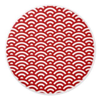 Japanese pattern ceramic knob