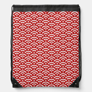 Japanese pattern drawstring bag