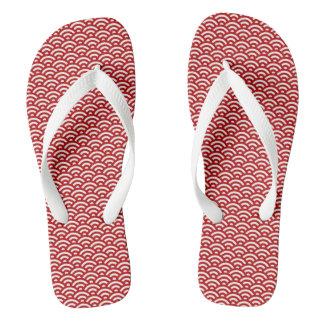 Japanese pattern flip flops