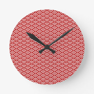 Japanese pattern round clock