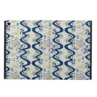 Japanese pattern with moon rabbits iPad air cover