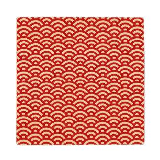 Japanese pattern wood coaster