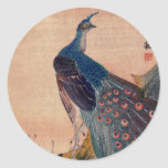 Japanese Peacock no.1 Classic Round Sticker