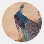 Japanese Peacock no.1 Round Sticker