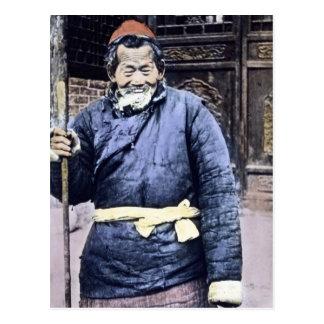 Japanese Peasant Herder Vintage Postcard