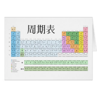Japanese periodic table card