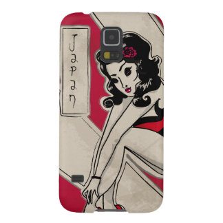 Japanese Pin Up on Heels Galaxy S5 Cover
