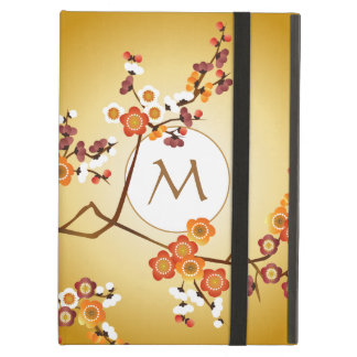 Japanese Plum Blossoms Moon Gold Orange Red Branch iPad Air Cover
