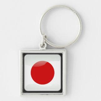Japanese polished flag key ring