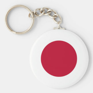 Japanese pride basic round button key ring