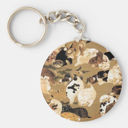 Japanese Puppies Key Chain
