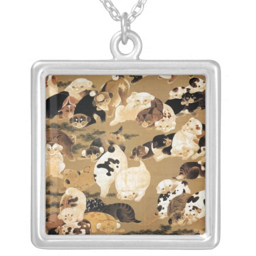 Japanese Puppies Necklace