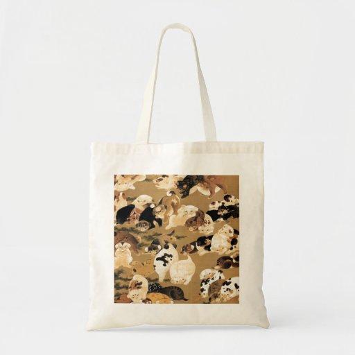Japanese Puppies Tote Bag