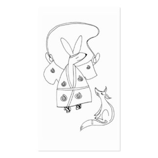 Japanese rabbit and fox pack of standard business cards