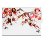 Japanese Red Maple Art Photography L Greeting Card