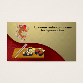 Japanese restaurant business card