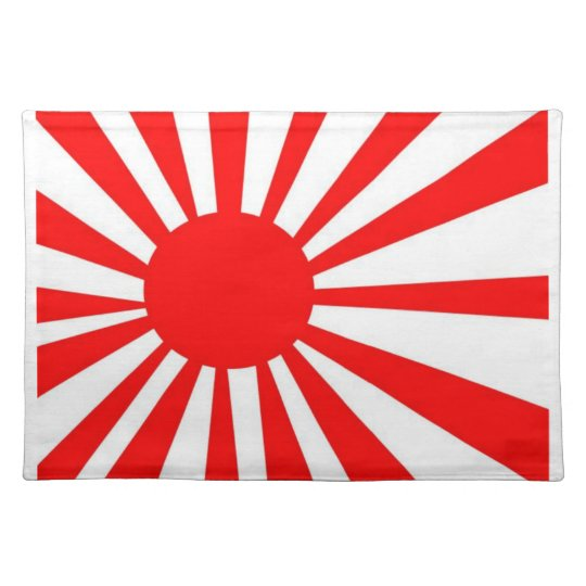 Japanese Rising Sun Flag Place Mat