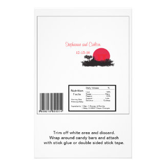 Japanese Rising Sun Wedding Lg Candy Bar Wrapper 14 Cm X 21.5 Cm Flyer