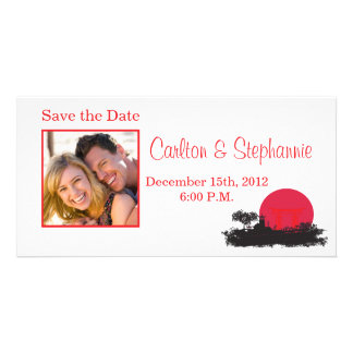 Japanese Rising Sun Wedding Photo Announcement Picture Card