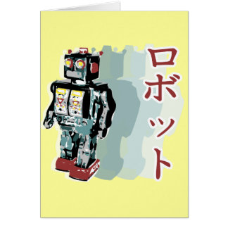 Japanese Robot 2 Greeting Card