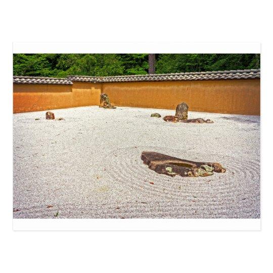 Japanese Rock Garden Postcard